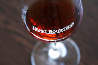 Wine glasses. Domaine Henri Bourgeois, Chavignol, Sancerre, Loire, France