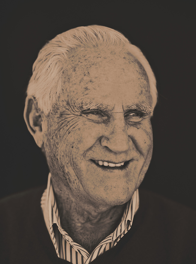 NFL Hall of Fame Coach Don Shula photographed at his Miami Beach home on January 21, 2008 for Florida Trend magazine.