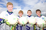CUL KIDS: Taking part in the VHI GAA Cu?l Camp held in Kilcummin last week were local stars of the future, l-r: Denis Walsh, Cormac O'Connor, Dean Cronin, Lee Guerin.