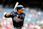 5 July 2009: Atlanta Braves' infielder Martin Prado at bat against the Washington Nationals at Nationals Park in Washington, DC. The Nationals defeated the Braves 5-3, to take the rubber game of their 3-game weekend series. Mandatory Credit: Ed Wolfstein Photo