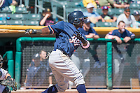 Trayvon Robinson (41) of the Reno Aces at bat against the Salt Lake Bees in Pacific Coast League action at Smith's Ballpark on May 10, 2015 in Salt Lake City, Utah.  Salt Lake defeated Reno 9-2 in Game One of the double-header. (Stephen Smith/Four Seam Images)