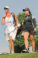 Moriya Jutanugarn (THA) departs the 16th tee during Thursday's first round of the 72nd U.S. Women's Open Championship, at Trump National Golf Club, Bedminster, New Jersey. 7/13/2017.<br /> Picture: Golffile | Ken Murray<br /> <br /> <br /> All photo usage must carry mandatory copyright credit (&copy; Golffile | Ken Murray)