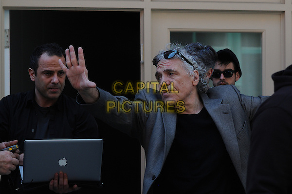 Abel Ferrara (Director)<br /> on the set of Welcome to New York (2014) <br /> *Filmstill - Editorial Use Only*<br /> CAP/FB<br /> Image supplied by Capital Pictures