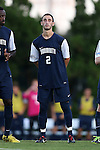 30 August 2013: Monmouth's John Egan. The University of North Carolina Tar Heels hosted the Monmouth University Hawks at Fetzer Field in Chapel Hill, NC in a 2013 NCAA Division I Men's Soccer match. UNC won the game 1-0 in two overtimes.