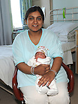 Uzma Usman Drogheda with baby Usman pictured at the Lourdes hospital where her son was born on 11-11-2011. Photo: Colin Bell/pressphotos.ie