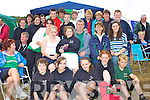 Crews and supporters of Cromane R.C. at the All Ireland Rowing Championships in Waterville on Saturday last.