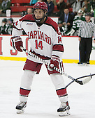 Alexander Kerfoot (Harvard - 14) - The Harvard University Crimson tied the visiting Dartmouth College Big Green 3-3 in both team's first game of the season on Saturday, November 1, 2014, at Bright-Landry Hockey Center in Cambridge, Massachusetts.