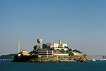 CA: Alcatraz, California, lighthouse, San Francisco Bay, 2005  .Image: caalcatraz101..Photo Copyright: Lee Foster, lee@fostertravel.com, www.fostertravel.com, (510) 549-2202.