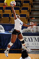 20 November 2008:  Middle Tennessee outside hitter Ashley Mead (23) attempts a kill shot during the Middle Tennessee 3-0 victory over Arkansas State in the first round of the Sun Belt Conference Championship tournament at FIU Stadium in Miami, Florida.