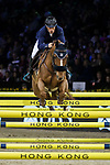 Olivier Robert of France riding Tempo de Paban competes in the Longines Grand Prix during the Longines Masters of Hong Kong at AsiaWorld-Expo on 11 February 2018, in Hong Kong, Hong Kong. Photo by Ian Walton / Power Sport Images