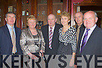CELEBRATIONS: Tom and Margaret O'Leary, Jimmy and Sheila Greaney, Castleisland with JJ O'Brien (Duagh) and Liam Dennehy (North Kerry Board) attending the Castleisland Desmonds All Ireland Club championship 25th anniversary celebrations in the River Island Hotel on Saturday night.