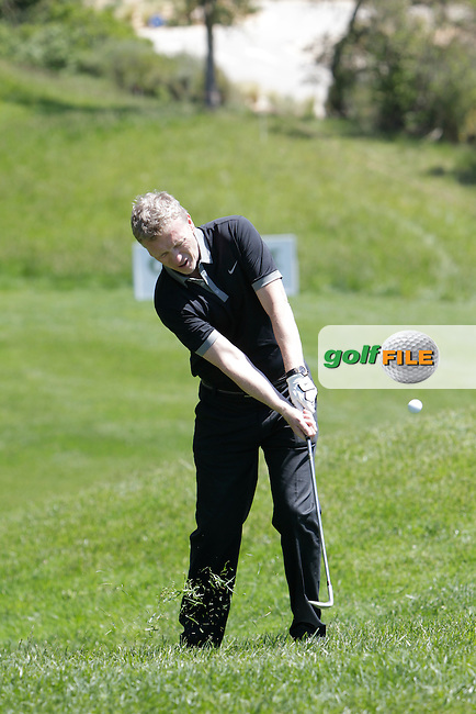 David Moyes (AM) on the 16th during the Pro-Am in The Open De Espana at The PGA Catalunya Resort on Wednesday 14th May 2014.<br /> Picture:  Thos Caffrey / www.golffile.ie