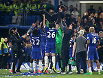 Chelsea's Antonio Conte gets thrown in the air  during the Premier League match at Stamford Bridge Stadium, London. Picture date: May 15th, 2017. Pic credit should read: David Klein/Sportimage