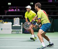 Februari 14, 2015, Netherlands, Rotterdam, Ahoy, ABN AMRO World Tennis Tournament, Jean-Julien Rojer (NED) / Horia Tecau (ROU) <br /> Photo: Tennisimages/Henk Koster