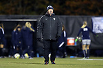 WINSTON-SALEM, NC - NOVEMBER 10: Georgetown head coach Dave Nolan. The Wake Forest University Demon Deacons hosted the Georgetown University Hoyas on November 10, 2017 at W. Dennie Spry Soccer Stadium in Winston-Salem, NC in an NCAA Division I Women's Soccer Tournament First Round game. Wake Forest advanced 2-1 on penalty kicks after the game ended in a 0-0 tie after overtime.