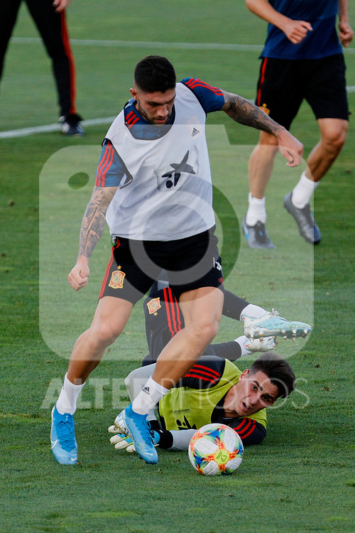 Unai Nunez and Kepa during the Trainee Session at Ciudad del Futbol in Las Rozas, Spain. September 02, 2019. (ALTERPHOTOS/A. Perez Meca)