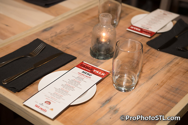 St. Louis Magazine Table Talk series event Chef Justin Haifley at Cucina Pazzo presented by Stella Artois at Cucina Pazzo in St. Louis, MO on April 14, 2014.