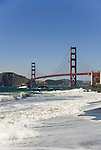 San Francisco: Baker Beach with Golden Gate Bridge in background.  Photo # 2-casanf83395.  Photo copyright Lee Foster