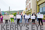 Locals and residents of the Skellig Star DP Centre in Cahersiveen stand together to end Direct Provision.