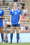 22 August 2014: Duke's Kelly Cobb. The Duke University Blue Devils played The Ohio State University Buckeyes at Fetzer Field in Chapel Hill, NC in a 2014 NCAA Division I Women's Soccer match. Ohio State won the game 1-0.