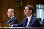 David Hale, Under Secretary of State for Political Affairs, joined by Christopher Ford, Assistant Secretary for International Security and Nonproliferation, testifies before the United States Senate Committee on Foreign Relations at the U.S. Capitol in Washington D.C., U.S., on Tuesday, December 3, 2019.<br /> <br /> Credit: Stefani Reynolds / CNP