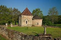 France, Corrèze (19), Curemonte, hameau de Saint-Hilaire-de-la-Combe, chapelle romane de la Combe // France, Correze, Curemonte, hamlet of Saint Hilaire de la Combe, Romanesque Chapel of La Combe