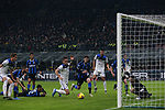 Rafael Toloi of Atalanta goes down in the penalty area following contact with Lautaro Martinez of Inter, referee Gianluca Rocchi only gave a corner kick following strong appeals from the Atalanta players during the Serie A match at Giuseppe Meazza, Milan. Picture date: 11th January 2020. Picture credit should read: Jonathan Moscrop/Sportimage