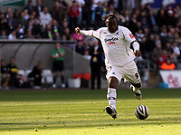 Pictured: Jason Scotland of Swansea City in action <br />