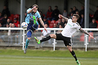 Match action during the Vanarama National League match between Dover Athletic and Grimsby Town at the Crabble Athletic Ground, Dover, England on 16 April 2016. Photo by Tony Fowles.