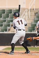 Jake Smolinski (11) of the Hagerstown Suns at bat versus the Kannapolis Intimidators at Fieldcrest Cannon Stadium in Kannapolis, NC, Sunday May 25, 2008.