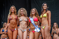 BALTIMORE, MD - MAY 20: Bikini contest participants pose for a photo on Preakness Stakes Day at Pimlico Race Course on May 20, 2017 in Baltimore, Maryland.(Photo by Jesse Caris/Eclipse Sportswire/Getty Images)