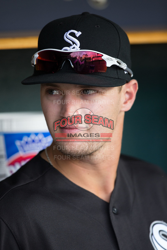 Adam Engel (41) of the Chicago White Sox prior to the game against the Detroit Tigers at Comerica Park on June 2, 2017 in Detroit, Michigan.  The Tigers defeated the White Sox 15-5.  (Brian Westerholt/Four Seam Images)