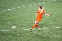 Orlando, Florida - Saturday, April 23, 2016: Houston Dash midfielder Cami Privett (23) makes a pass during an NWSL match between Orlando Pride and Houston Dash at the Orlando Citrus Bowl.