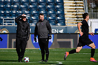 Chester, PA - Sunday December 10, 2017: Jeremy Gunn, Oige Kennedy. Stanford University defeated Indiana University 1-0 in double overtime during the NCAA 2017 Men's College Cup championship match at Talen Energy Stadium.