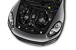 Car Stock 2015 Porsche Panamera - 5 Door Hatchback 2WD Engine high angle detail view