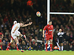 George Ford of England kicks a penalty in the dying minutes to make the game safe - RBS 6Nations 2015 - Wales  vs England - Millennium Stadium - Cardiff - Wales - 6th February 2015 - Picture Simon Bellis/Sportimage
