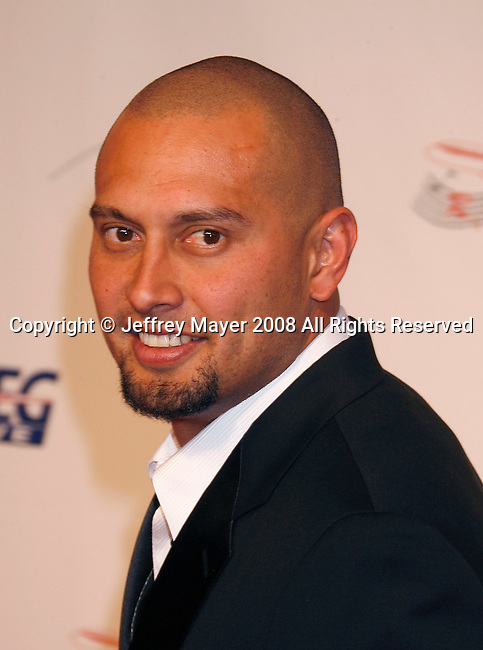 LOS ANGELES, CA. - February 06: Major League Baseball player Shane Victorino arrives at the 2009 MusiCares Person of the Year Tribute to Neil Diamond at the Los Angeles Convention Center on February 6, 2009 in Los Angeles, California.