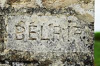 chateau belair gate post saint emilion bordeaux france