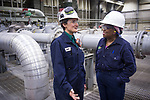 Pump One Operations and Maintenance Supervisor Janna Miller and operations advisor Cheryl Shannon.