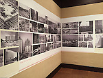 Pittsburgh PA:  View of the architectural view area of the Imaging for Modern exhibition inside the Carnegie Museum of Art - 2015.  Photographs from the Brady Stewart Archives were used in the exhibition about Pittsburgh's architectural evolution 1945-1970.<br />