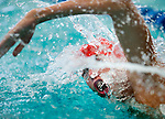 Willow Creek's Dinwoodey Greer competes in the 200 yard medley relay race during the 53rd annual Country Club Swimming Championships on Monday, Aug. 6, 2012, in Kearns, Utah. (© 2012 Douglas C. Pizac)