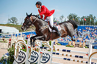 BEL-Nicola Philippaerts  rides H&M Chilli Willi during the First Competition - FEI World Team and Individual Jumping Championship. 2018 FEI World Equestrian Games Tryon. Tuesday 18 September. Copyright Photo: Libby Law Photography