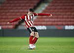 Jake Young shoots during the Professional Development League match at Bramall Lane, Sheffield. Picture date: 26th November 2019. Picture credit should read: Simon Bellis/Sportimage