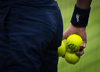 A detail of the match balls during the Ladies' Final<br /> <br /> Photographer Ashley Western/CameraSport<br /> <br /> Wimbledon Lawn Tennis Championships - Day 12 - Saturday 15th July 2017 -  All England Lawn Tennis and Croquet Club - Wimbledon - London - England<br /> <br /> World Copyright &not;&copy; 2017 CameraSport. All rights reserved. 43 Linden Ave. Countesthorpe. Leicester. England. LE8 5PG - Tel: +44 (0) 116 277 4147 - admin@camerasport.com - www.camerasport.com