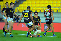 Lions captain Du'Plessis Kirifi scores the matchwinning try during the Mitre 10 Cup rugby match between Wellington Lions and Counties Manukau Steelers at Westpac Stadium in Wellington, New Zealand on Wednesday, 29 August 2019. Photo: Dave Lintott / lintottphoto.co.nz