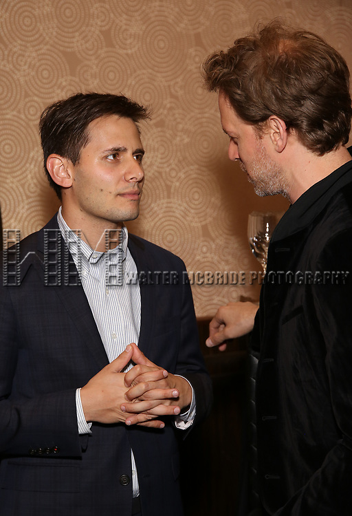 Benj Pasek and David Korins attends New York Theatre Workshop's 2017 Spring Gala at the Edison Ballroom on May 15, 2017 in New York City.
