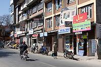 Kathmandu, Nepal.  Street Scene, Kamaladi District.