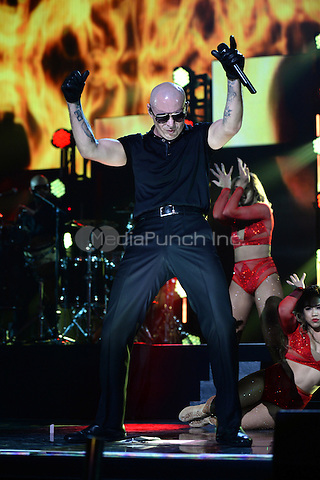 MIAMI, FL - NOVEMBER 5: Pitbull at iHeartRadio Fiesta Latina 2016 at The American Airlines Arena on November 5, 2016. Credit: mpi04/MediaPunch