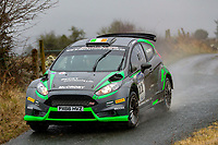 2nd February 2020; Galway, Galway, Ireland; Irish Tarmac Rally Championship, Galway International Rally;  Declan McCrory and Stephen O'Hanlon (Ford Fiesta WRC) claim 8th place overall