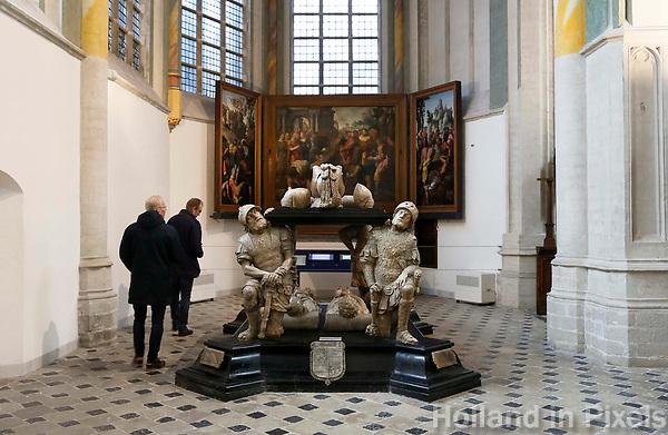 Nederland  Breda  2016. De Grote Kerk in Breda. Prinsenkapel. Grafmonument van Engelbrecht II.  Foto Berlinda van Dam / Hollandse Hoogte